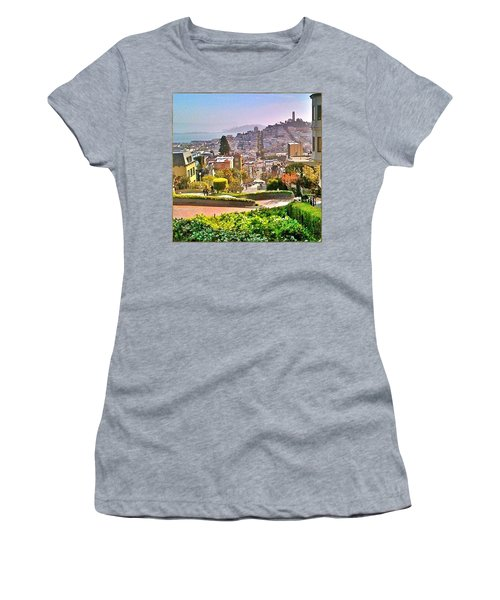 Favorite Places Lombard Street San Francisco California Women's T-Shirt (Athletic Fit)