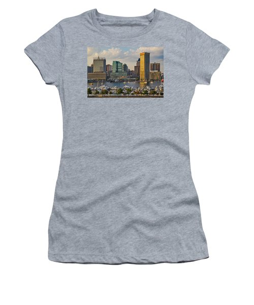 Federal Hill View To The Baltimore Skyline Women's T-Shirt