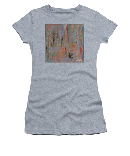 Women's T-Shirt (Junior Cut) featuring the painting Fibres Of My Being by Mini Arora