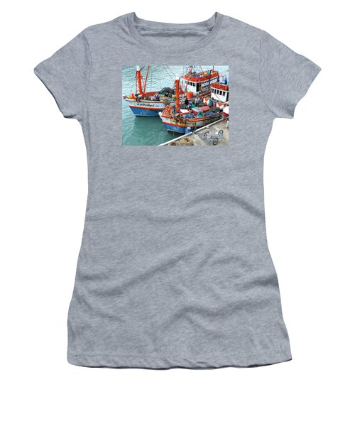 Women's T-Shirt (Junior Cut) featuring the photograph Fisherman by Andrea Anderegg