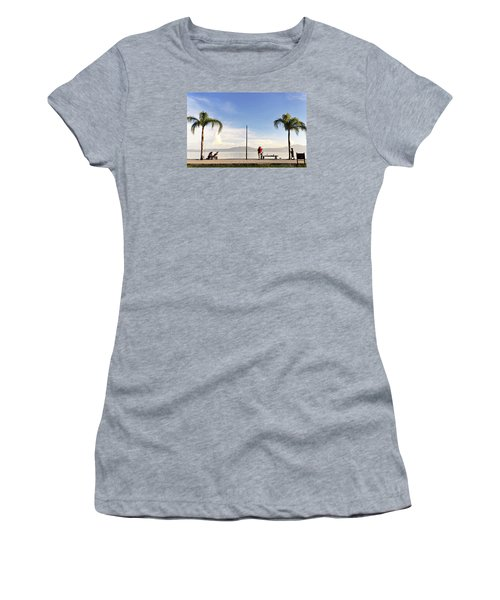 Fishing On Lake Chapala Women's T-Shirt (Junior Cut) by David Perry Lawrence