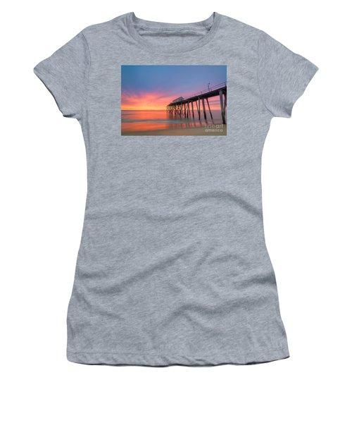 Fishing Pier Sunrise Women's T-Shirt