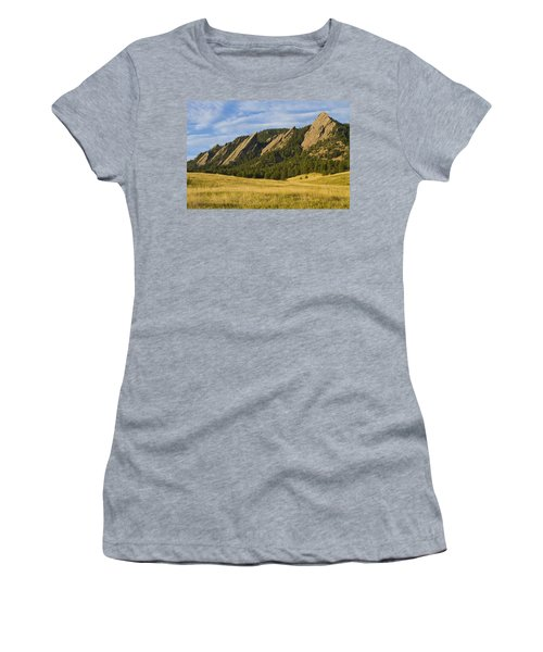Flatiron Morning Light Boulder Colorado Women's T-Shirt (Athletic Fit)