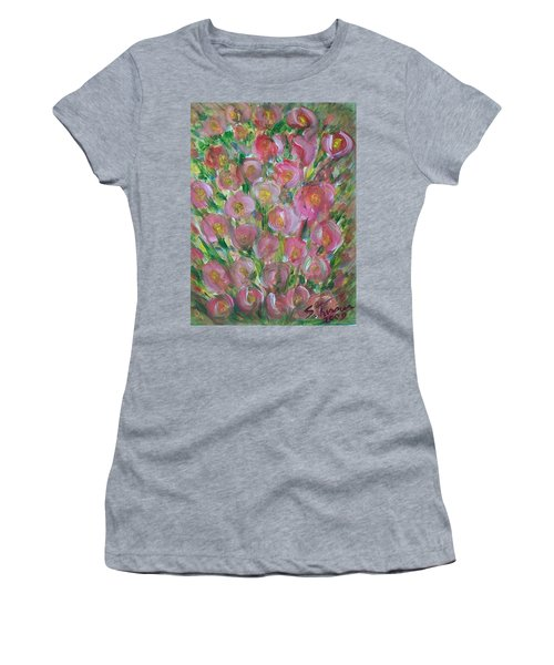 Floral Burst Women's T-Shirt (Athletic Fit)