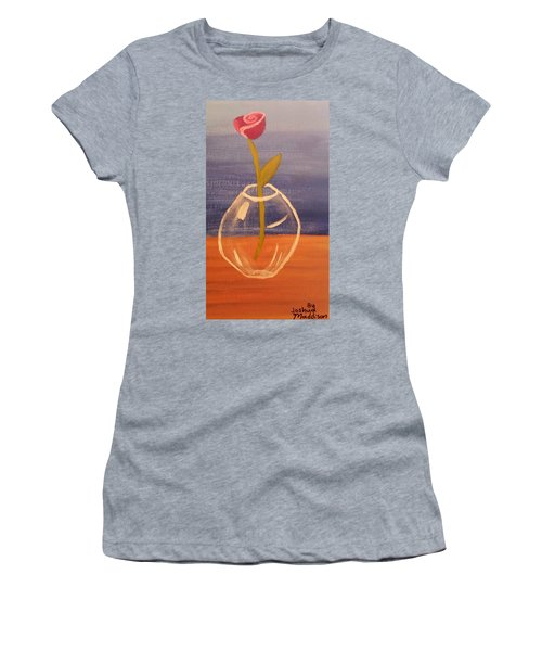 Flower In Vase Women's T-Shirt (Athletic Fit)