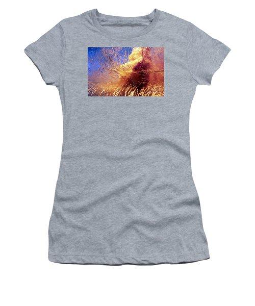 Flowers In Ice Women's T-Shirt (Junior Cut) by Randi Grace Nilsberg