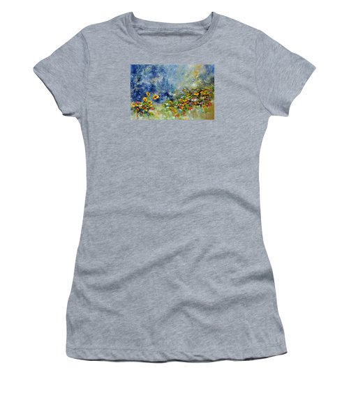 Flowers In The Fog Women's T-Shirt (Athletic Fit)