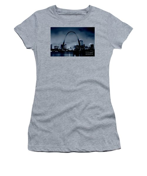 Fog Over St Louis Monochrome Women's T-Shirt (Athletic Fit)