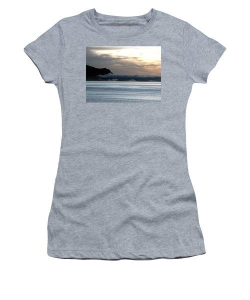 Women's T-Shirt (Junior Cut) featuring the photograph Fog Roll Sunset by Jennifer Wheatley Wolf