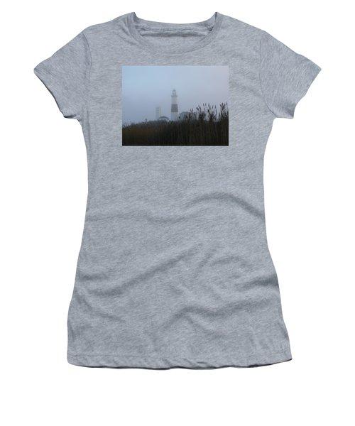 Foggy Montauk Lighthouse Women's T-Shirt