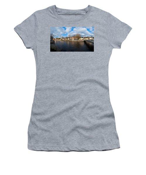 Footbridge Across A River, Millenium Women's T-Shirt