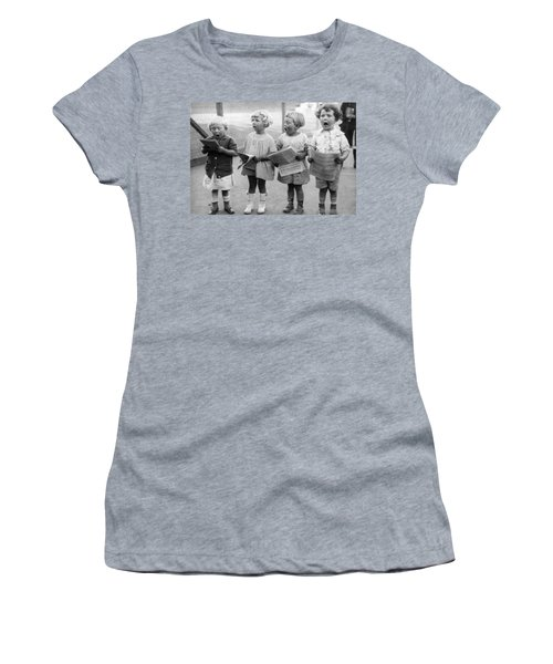 Four Young Children Singing Women's T-Shirt