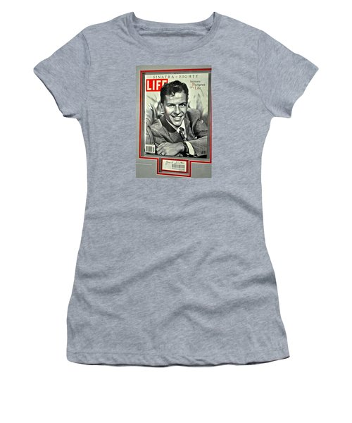 Frank Sinatra Life Cover Women's T-Shirt (Athletic Fit)