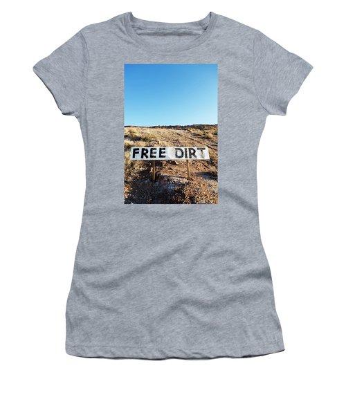 Free Dirt Sign On Hillside Women's T-Shirt