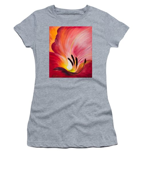 From The Heart Of A Flower Red I Women's T-Shirt