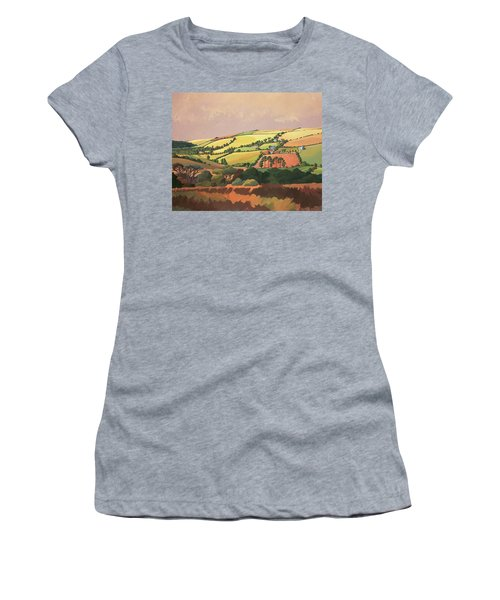 From The Train, South Devon, No.1 Oil On Canvas Women's T-Shirt