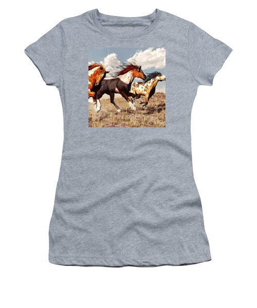 Galloping Mustangs Women's T-Shirt