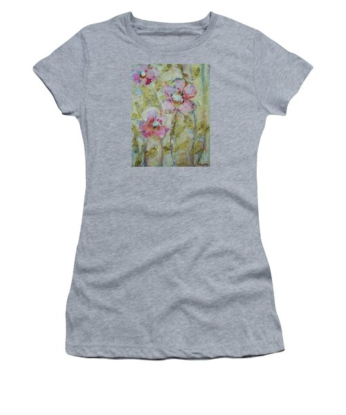 Women's T-Shirt (Junior Cut) featuring the painting Garden Bliss by Mary Wolf