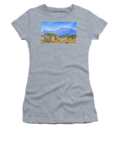 Gathering At Mount Kilimanjaro Women's T-Shirt
