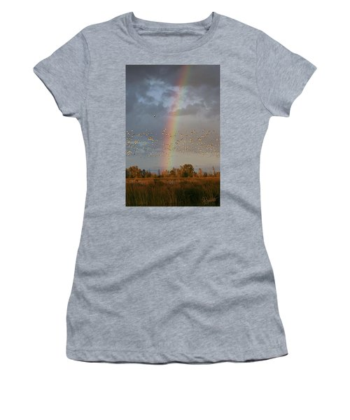 Geese And Rainbow Women's T-Shirt