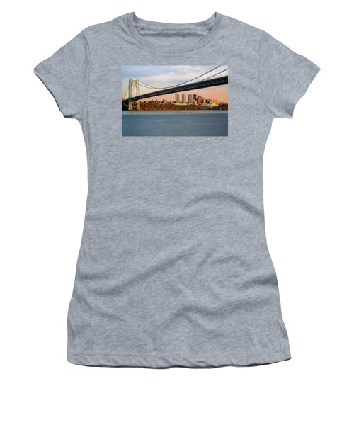 George Washington Bridge In Autumn Women's T-Shirt