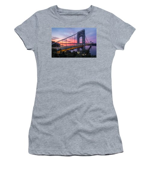 George Washington Bridge Women's T-Shirt (Junior Cut) by Mihai Andritoiu