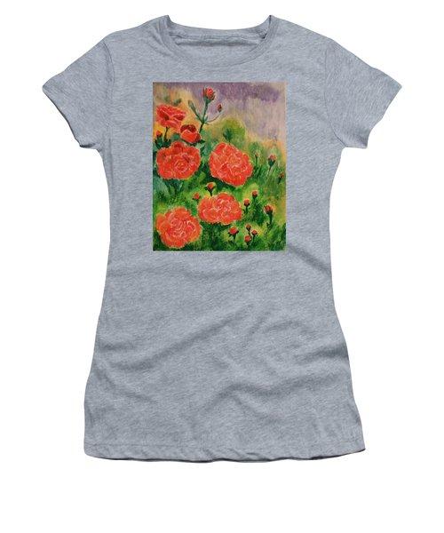 Geraniums Women's T-Shirt (Junior Cut) by Christy Saunders Church