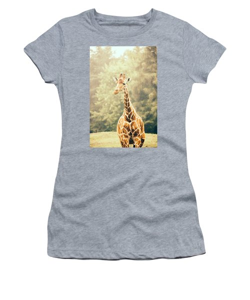 Giraffe In The Rain Women's T-Shirt