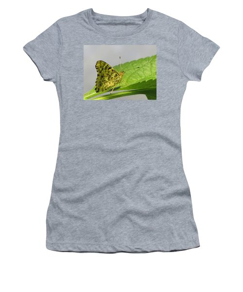 Gold And Green  Women's T-Shirt (Athletic Fit)