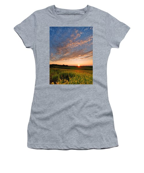 Golden Fields Women's T-Shirt (Athletic Fit)