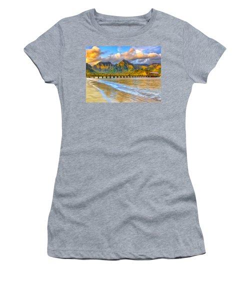 Golden Hanalei Morning Women's T-Shirt (Athletic Fit)