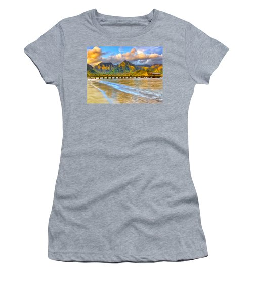 Golden Hanalei Morning Women's T-Shirt (Athletic Fit)