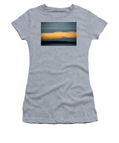 Golden Shores Women's T-Shirt (Junior Cut) by Leena Pekkalainen