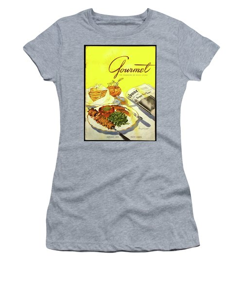 Gourmet Cover Illustration Of Grilled Breakfast Women's T-Shirt
