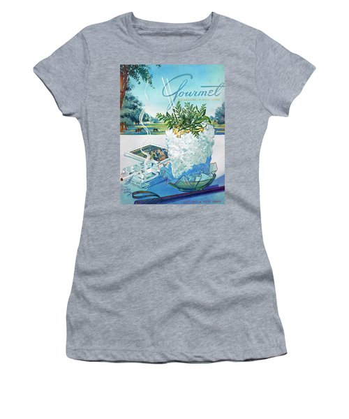 Gourmet Cover Illustration Of Mint Julep Packed Women's T-Shirt