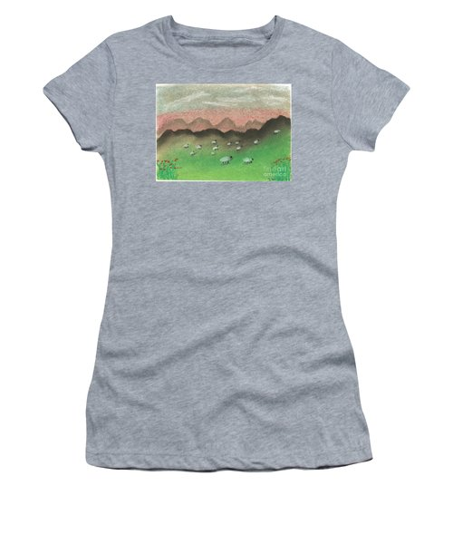Grazing In The Hills Women's T-Shirt (Athletic Fit)