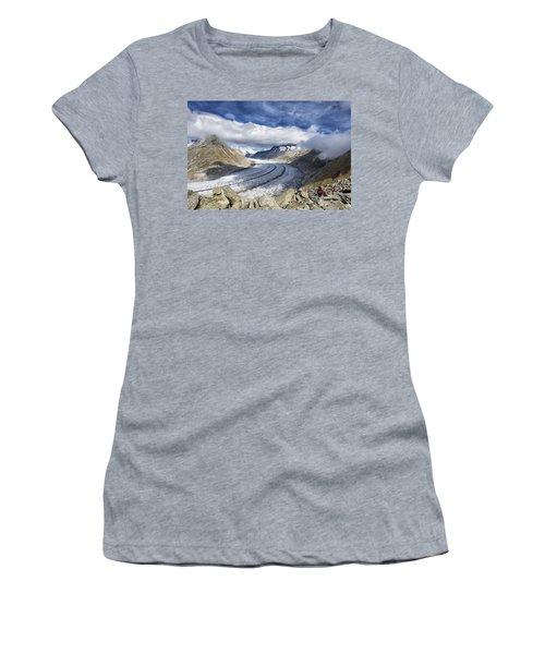 Great Aletsch Glacier Swiss Alps Switzerland Europe Women's T-Shirt (Junior Cut) by Matthias Hauser