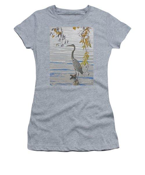 Great Blue Heron Women's T-Shirt (Junior Cut) by Ann Horn