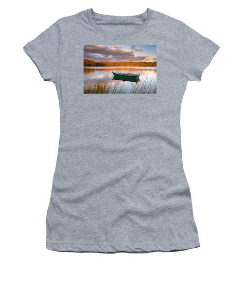 Green Boat On Salt Pond Women's T-Shirt