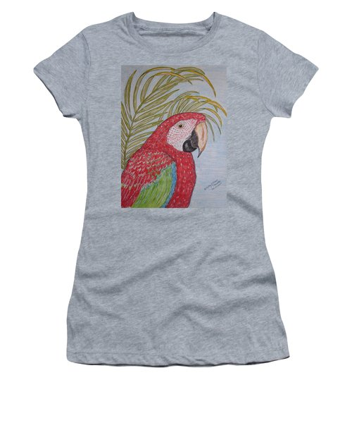Green Winged Macaw Women's T-Shirt (Athletic Fit)