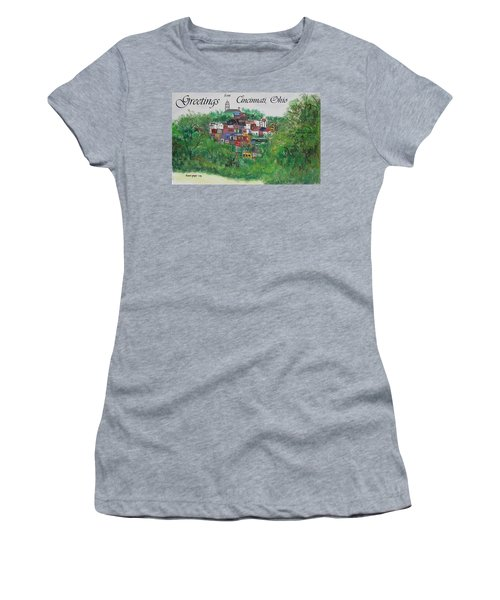 Greetings From Cincinnati Ohio Women's T-Shirt (Athletic Fit)