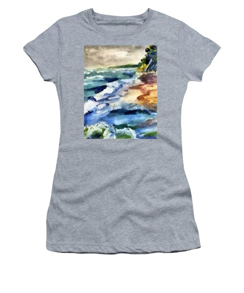 Grey Sky Day On The Lake Women's T-Shirt