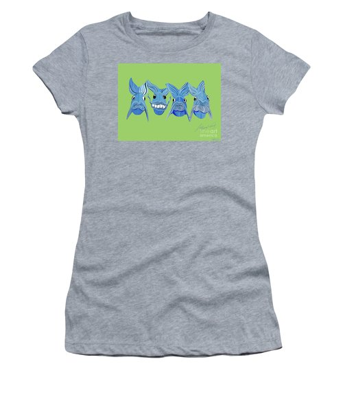 Grinning Fish Women's T-Shirt (Athletic Fit)