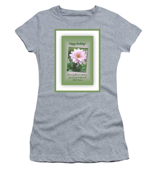 Growing Old Is Optional Women's T-Shirt (Junior Cut) by Leone Lund