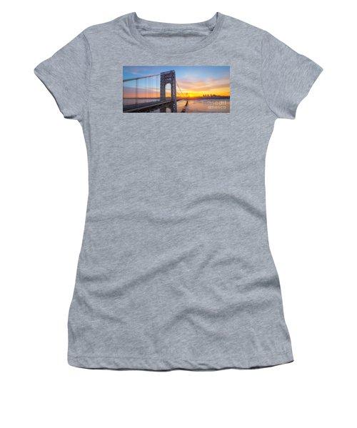 Gw Bridge Panorama Sunburst  Women's T-Shirt
