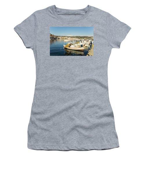 Gytheion Harbour Women's T-Shirt (Athletic Fit)