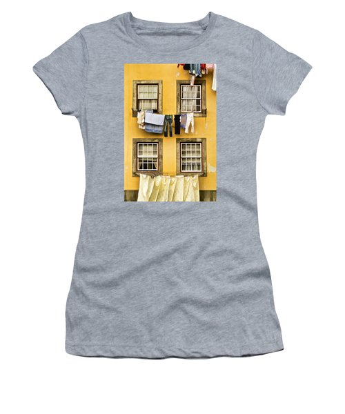 Hanging Clothes Of Old World Europe Women's T-Shirt