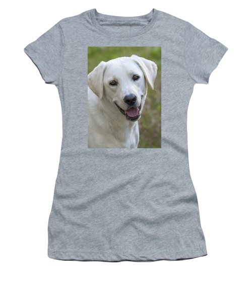 Women's T-Shirt (Junior Cut) featuring the photograph Happy Lab by Stephen Anderson