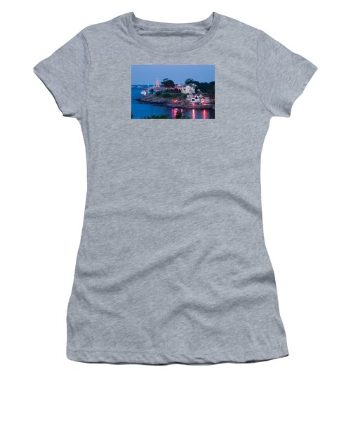 Marblehead Harbor Illumination Women's T-Shirt (Junior Cut) by Jeff Folger