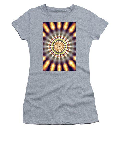 Women's T-Shirt (Junior Cut) featuring the drawing Harmonic Sphere Of Energy by Derek Gedney